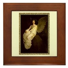 Winged Figure by Abbot Thayer Framed Tile