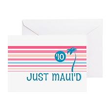 Stripe Just Maui'd '10 Greeting Card