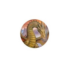 Prowling Dragon Mini Button