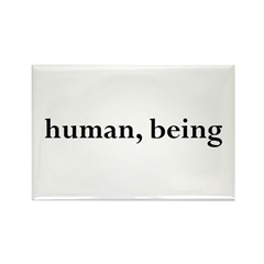 Rectangle Magnet - human being