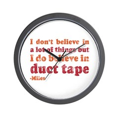Miles Duct Tape Quote Wall Clock