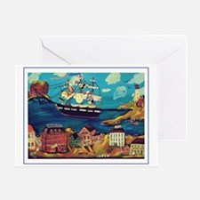 NAUTICAL - SHIP HAS COME IN Greeting Card