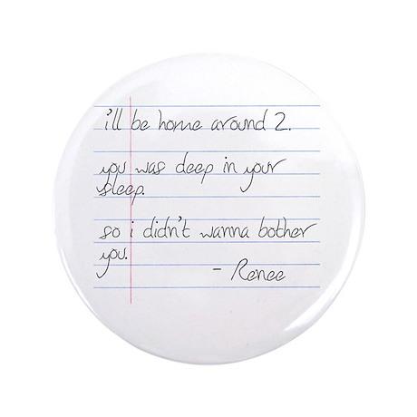"LB Fam Renee Letter 3.5"" Button (100 pack)"