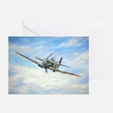 Unique Raf spitfire fighter plane Greeting Cards (Pk of 10)