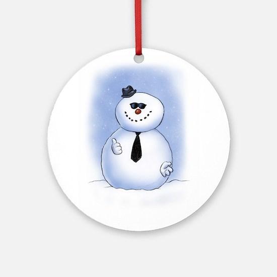 Snowman Dude Ornament (Round)