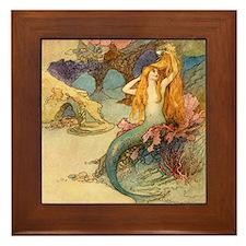Vintage Mermaid Framed Tile