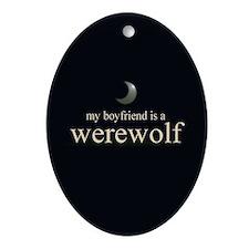Boyfriend Werewolf V3 Ornament (Oval)