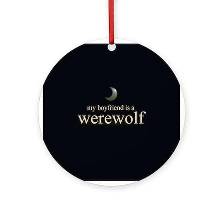 Boyfriend Werewolf V3 Ornament (Round)