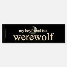 Boyfriend Werewolf V3 Bumper Bumper Sticker