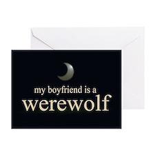 Boyfriend Werewolf V3 Greeting Cards (Pk of 20)
