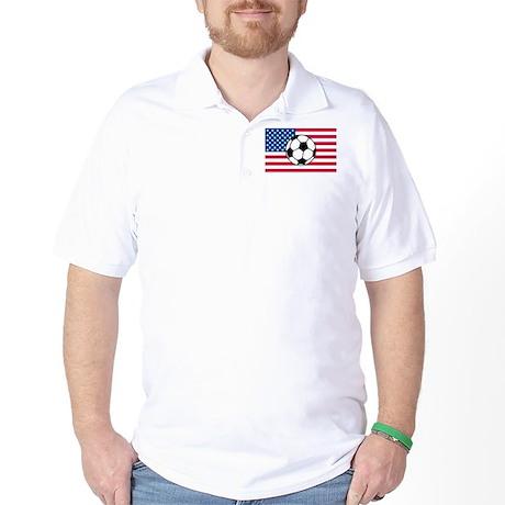 USA Soccer Flag Golf Shirt