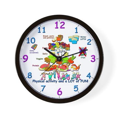 Wall Clock/Kids Food Pyramid