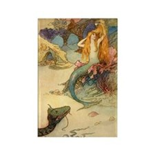 Vintage Mermaid Rectangle Magnet