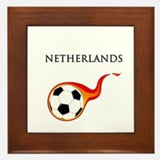 Netherlands Soccer Framed Tile