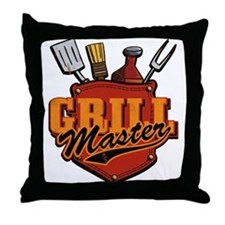 Pocket Grill Master Throw Pillow