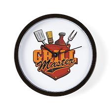 Pocket Grill Master Wall Clock