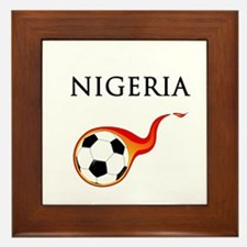 Nigeria Soccer Framed Tile