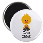 Yoga Chick Magnet