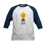 Yoga Chick Kids Baseball Jersey