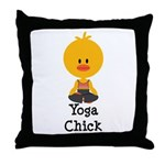 Yoga Chick Throw Pillow