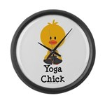 Yoga Chick Large Wall Clock