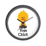 Yoga Chick Wall Clock