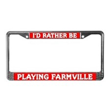 Red I'd Rather Be Playing Farmville Frame