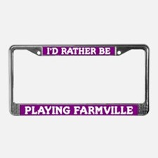Purple I'd Rather Be Playing Farmville Frame