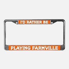 Orange I'd Rather Be Playing Farmville Frame