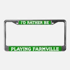 Green I'd Rather Be Playing Farmville Frame