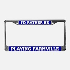 Blue I'd Rather Be Playing Farmville Frame
