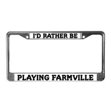 White I'd Rather Be Playing Farmville Frame