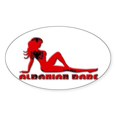 Albanian Babe Sticker (Oval)