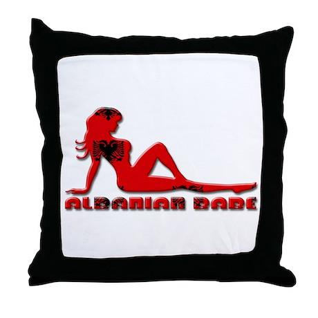 Albanian Babe Throw Pillow