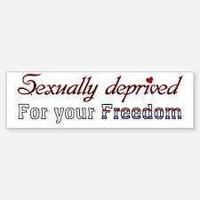 Sexually Deprived* Bumper Bumper Sticker