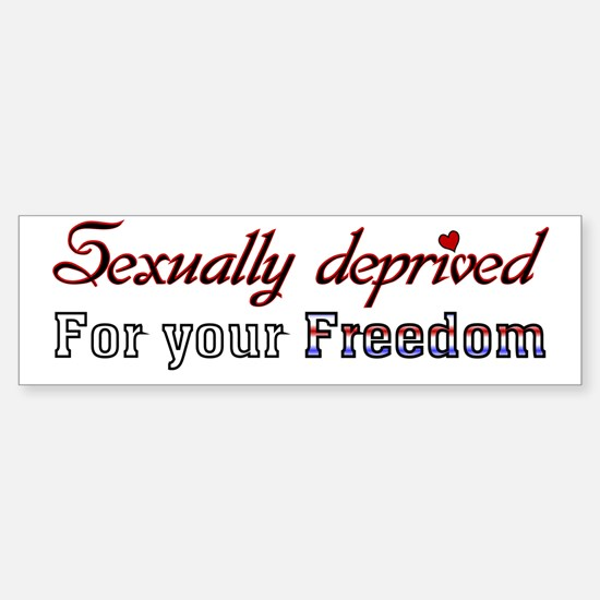 Sexually Deprived* Sticker (Bumper)