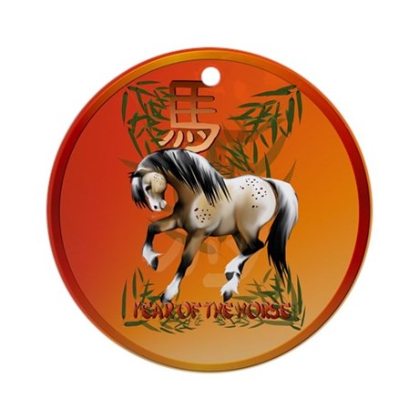 The Year Of The Horse Ornament (Round)