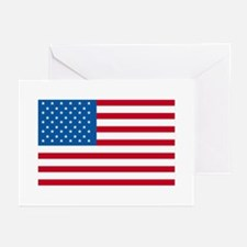 American Flag Old Glory Greeting Cards (Pk of 10)