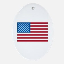 American Flag Old Glory Ornament (Oval)