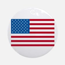 American Flag Old Glory Ornament (Round)