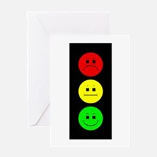 Moody Stoplight Greeting Card
