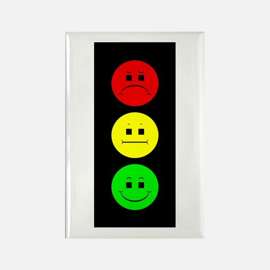 Moody Stoplight Rectangle Magnet