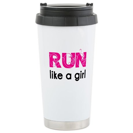 Run like a girl Stainless Steel Travel Mug