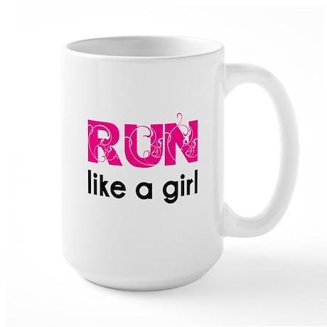 Run like a girl Large Mug
