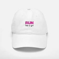 Run like a girl Baseball Baseball Cap