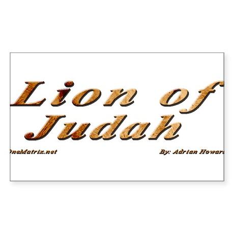 Lion of Judah Sticker (Rectangle)