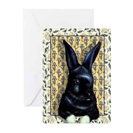 Cute Black Bunny Greeting Cards (Pk of 10)
