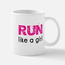 running_swirl_sticker Mugs
