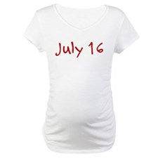 """July 16"" printed on a Shirt"