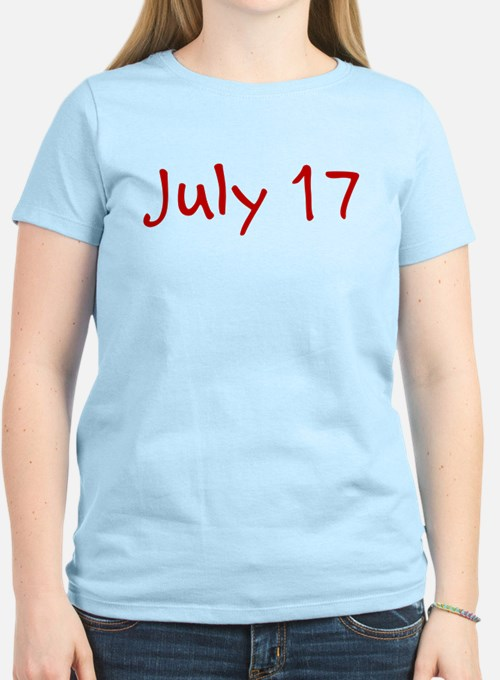 """""""July 17"""" printed on a T-Shirt"""